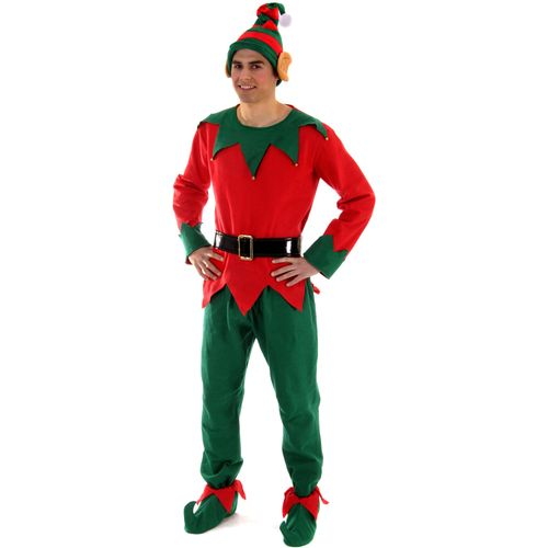 Elf Costume Christmas Fancy Dress Costume One Size Fits Most (M-XL)