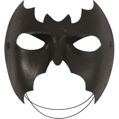 Black Bat Half Face Mask Fancy Dress and Halloween Accessory