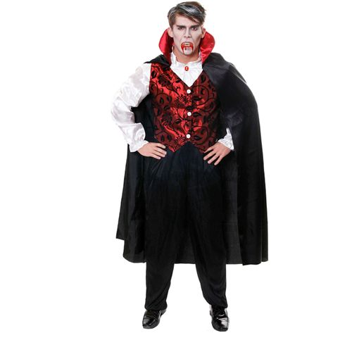 Vampire Costume Halloween & Fancy Dress One Size Fits Most (M-L)