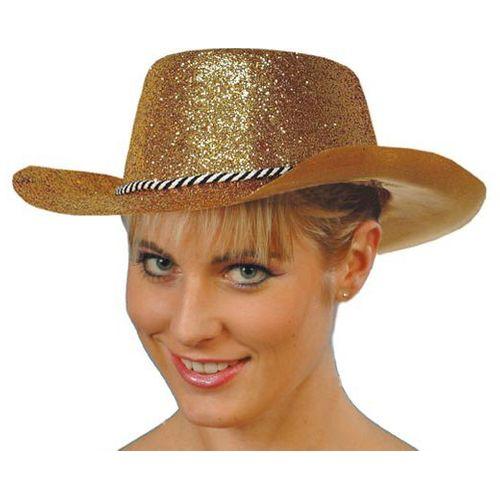 Gold Glitter Cowboy Hat Fancy Dress Accessory
