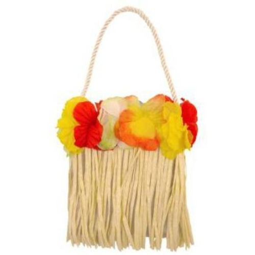 Hawaiian Hula Bag With Flowers Fancy Dress Costume Accessory