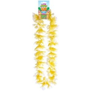 Hawaiian Lei Collier Flower Garland 100cm (Yellow/White