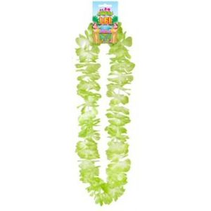 Hawaiian Lei Collier Flower Garland 100cm (Green/White)
