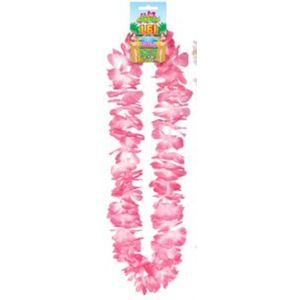 Hawaiian Lei Collier Flower Garland 100cm (Pink/Cerise)