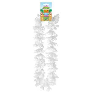 Hawaiian Lei Collier Flower Garland 100cm (White)