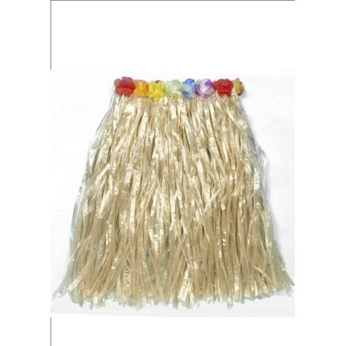 Hawaiian Grass Skirt  Waist 73cm Length 80cm Fancy Dress Accessory