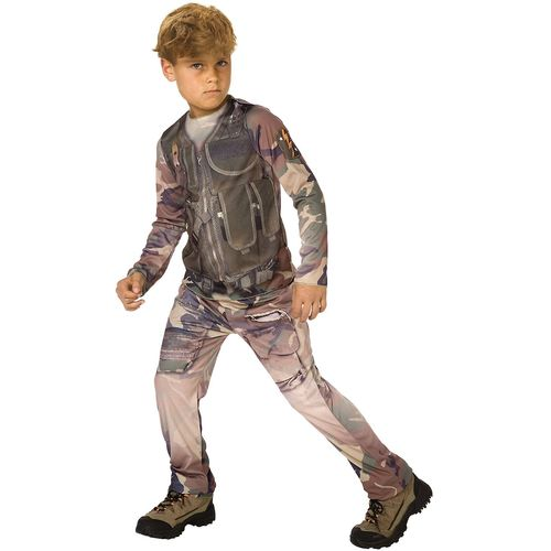 Childs Army Combat Soldier 3D Print Fancy Dress Costume Age 4-5 Years