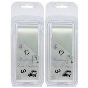 Wedding Car Ribbon (White) 2 Pack App 12m In Total