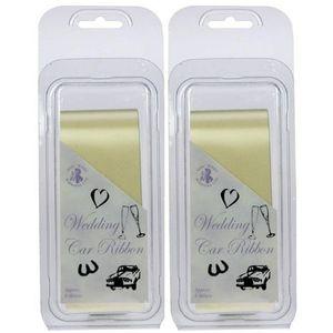 Wedding Car Ribbon (Ivory) 2 Pack App 12m In Total