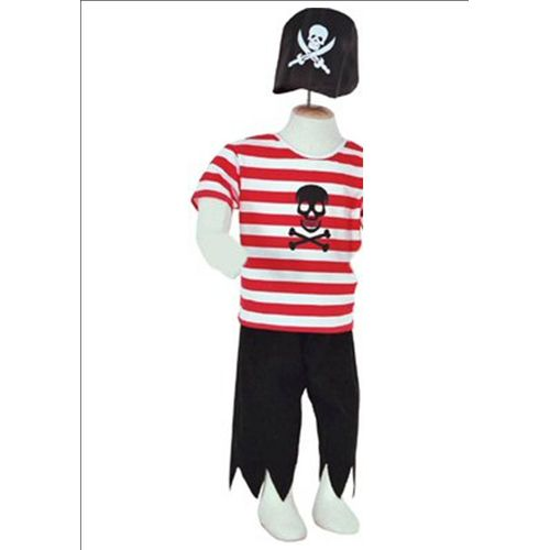 Childs Pirate Buccaneer Ex Hire Fancy Dress Sale Costume Age 6-8 Years