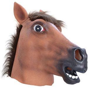 Horse Animal Panto Rubber Overhead Mask