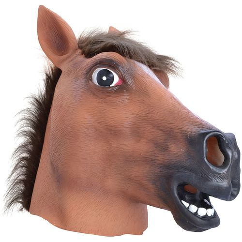 Horse Animal Panto Overhead Rubber Face Mask