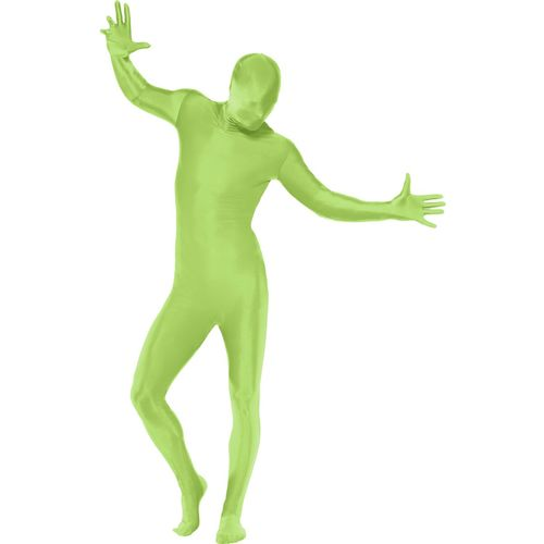 Green Second Skin Fancy Dress Costume XL