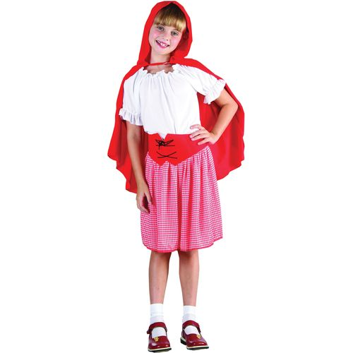 Childs Red Riding Hood Style Fancy Dress Costume Age 9-11 Years