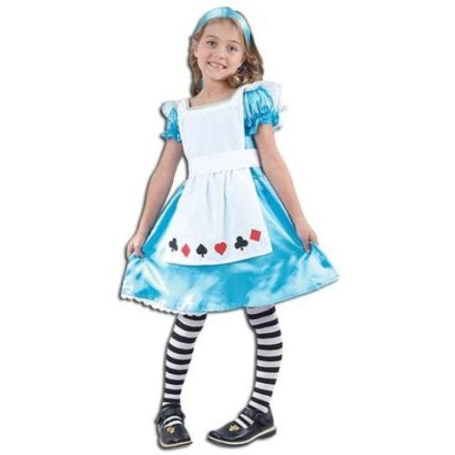 Childs Alice In Wonderland Style Fancy Dress Costume Age 5-7