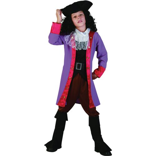 Childs Pirate Captain Hook Fancy Dress Costume Age 7-9 Years