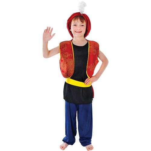 Childs Aladdin Arabian Boy Fancy Dress Costume Age 7-9 Years