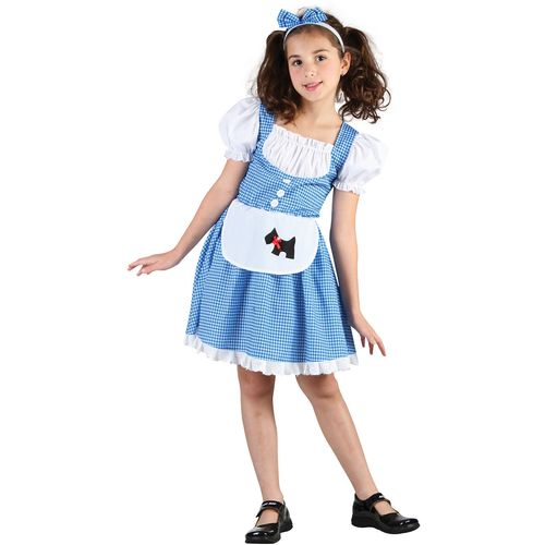 Childs Dorothy Wizard Of Oz Style Fancy Dress Costume Age 9-11 Years