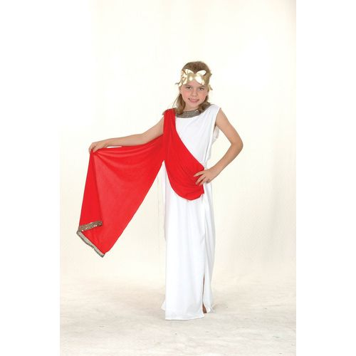 Childrens Greek Roman Goddess Fancy Dress Costume Age7-9 Years