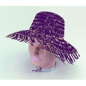 Calypso Beachcomber Style Straw Hat (Purple)