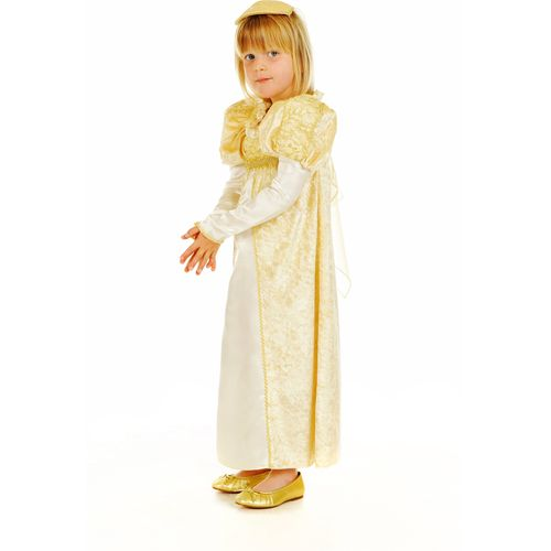 Childs Golden Princess Medieval Fancy Dress Costume Age 5-7 Years