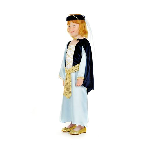 Childs Blue Princess Medieval Fancy Dress Costume Age 5-7 Years