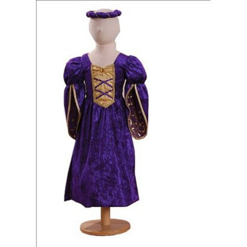 Childs Purple Princess Medieval Fancy Dress Costume Age 3 -5 Years