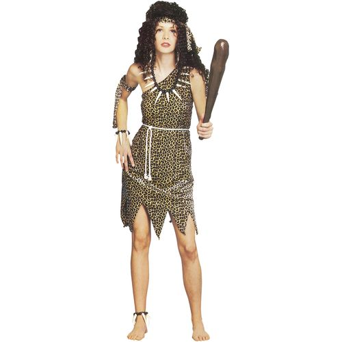 Cave Woman Fancy Dress Costume One Size Fits Most