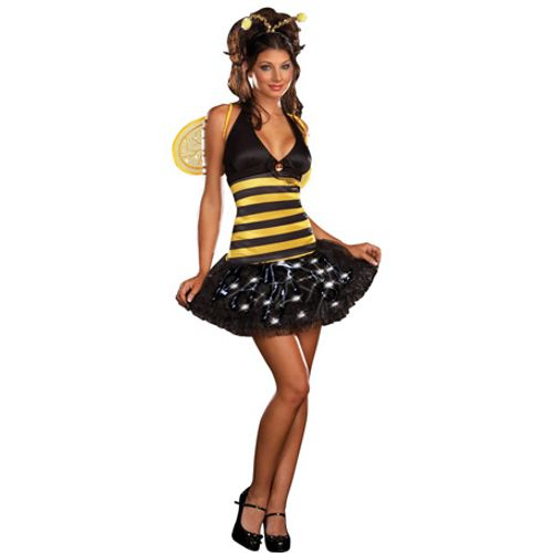 Bee Delightful Dreamgirl Fancy Dress Light Up Costume Size 6-8
