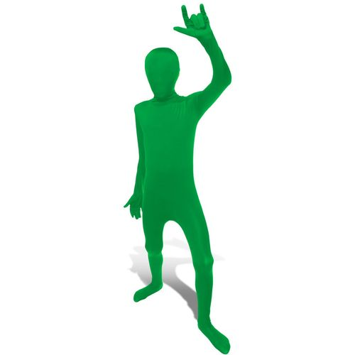 Childs Official Green Morphsuit Fancy Dress Costume Age 8-10 Years