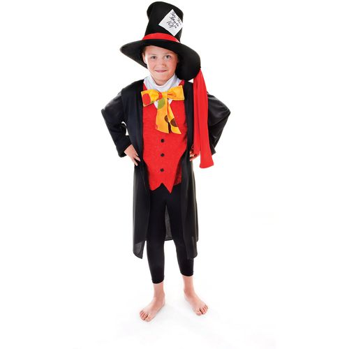Childs Mad Hatter Style Fancy Dress Costume Age 7-9 Years