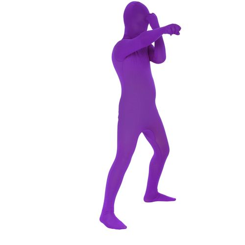 Childs Purple Official Morphsuit Fancy Dress Costume Age 8-10 Years
