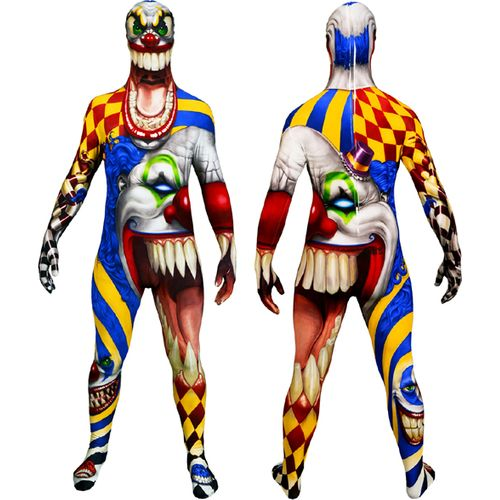 Scary Clown Official Monster Morphsuit Halloween Fancy Dress Costume Size M