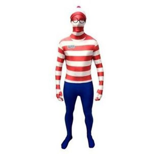 Wheres Wally Official Morphsuit Fancy Dess Costume Size L