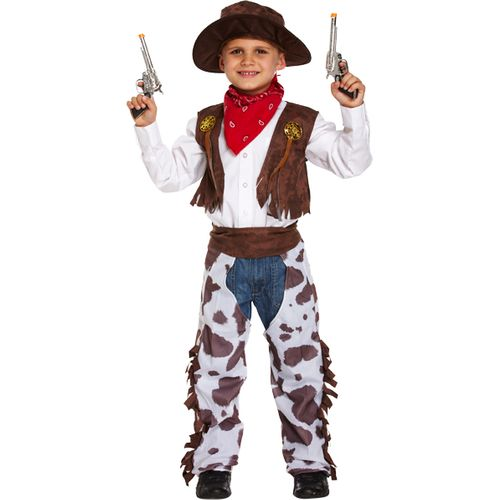 Childs Cowboy Fancy Dress Costume Age 4-6 Years