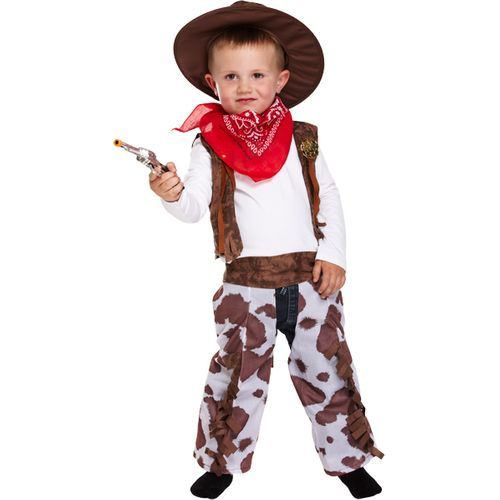 Childs Cowboy Fancy Dress Costume Toddler Age 3 Years