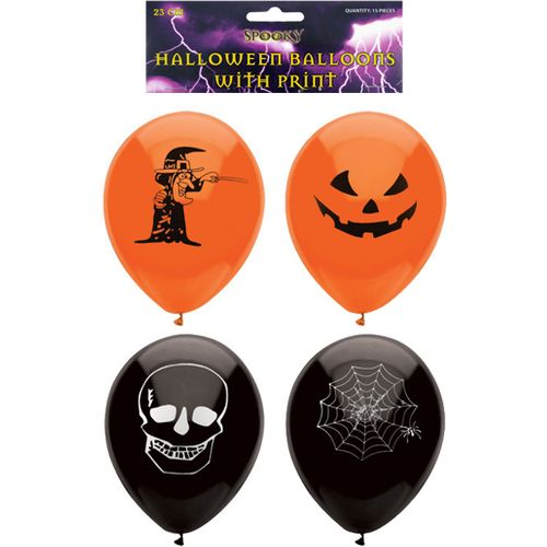 Halloween Printed Balloons 15 Pack Party Room Decoration