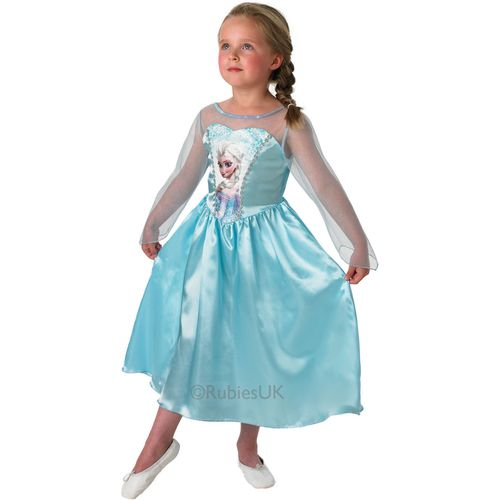 Classic Elsa Disney Frozen Princess Dress Age 7 - 8 Official Girls Dress Up