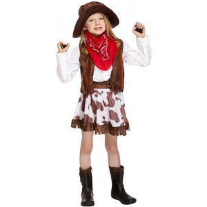 Childs Cowgirl Fancy Dress Costume Age 4-6 Years