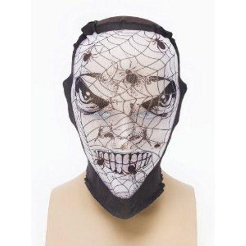 Net Skin Tight Fancy Dress Halloween Mask Spider Style