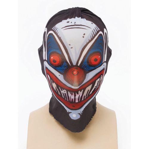 Net Skin Tight Fancy Dress Mask Clown Style
