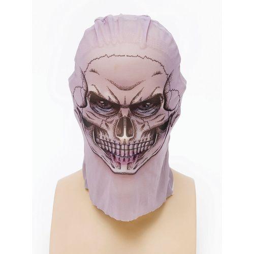 Net Skin Tight Fancy Dress Mask Skull Style