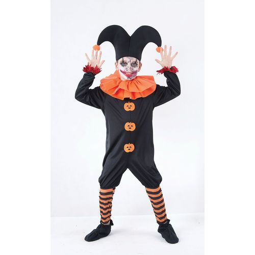 Childs Evil JesterHalloween Fancy Dress Costume Age 7-9 Years