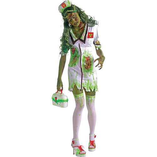 Biohazard Zombie Corpse Nurse Fancy Dress Outfit
