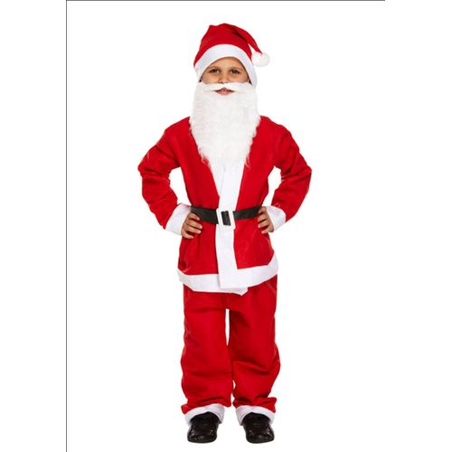 Childs Santa Christmas Fancy Dress Costume Age 7-9 Years