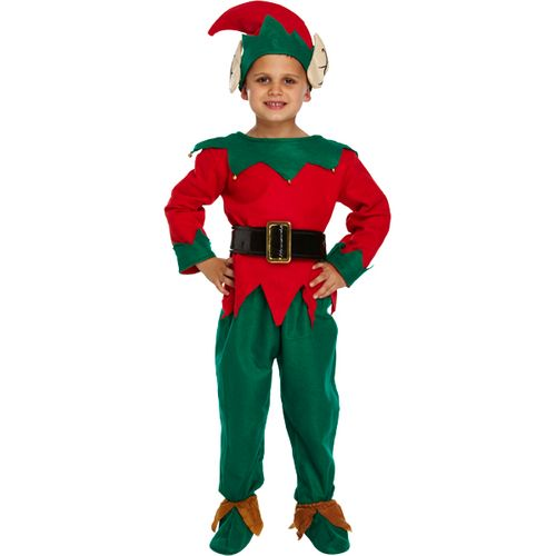 Childs Elf Christmas Fancy Dress Costume Age 4-6 Years
