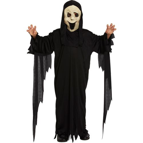 Childs Demon Sceam Ghost Style Halloween Fancy Dress Costume Age 4-6 Years