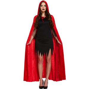 Velvet Hooded Devil Cape (Red)