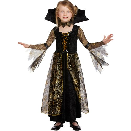 Childs Sipderella Halloween Fancy Dress Costume Age 4-6 Years