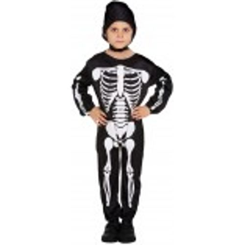 Childs Skeleton Halloween Fancy Dress Costume Age 4-6 Years
